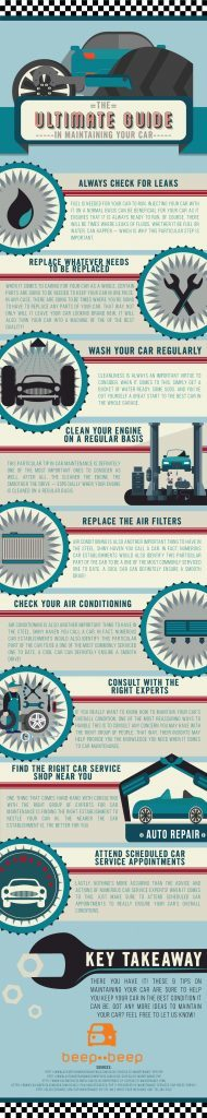 INFOGRAPHICS: The Ultimate Guide in Maintaining Your Car - beepbeep.ph